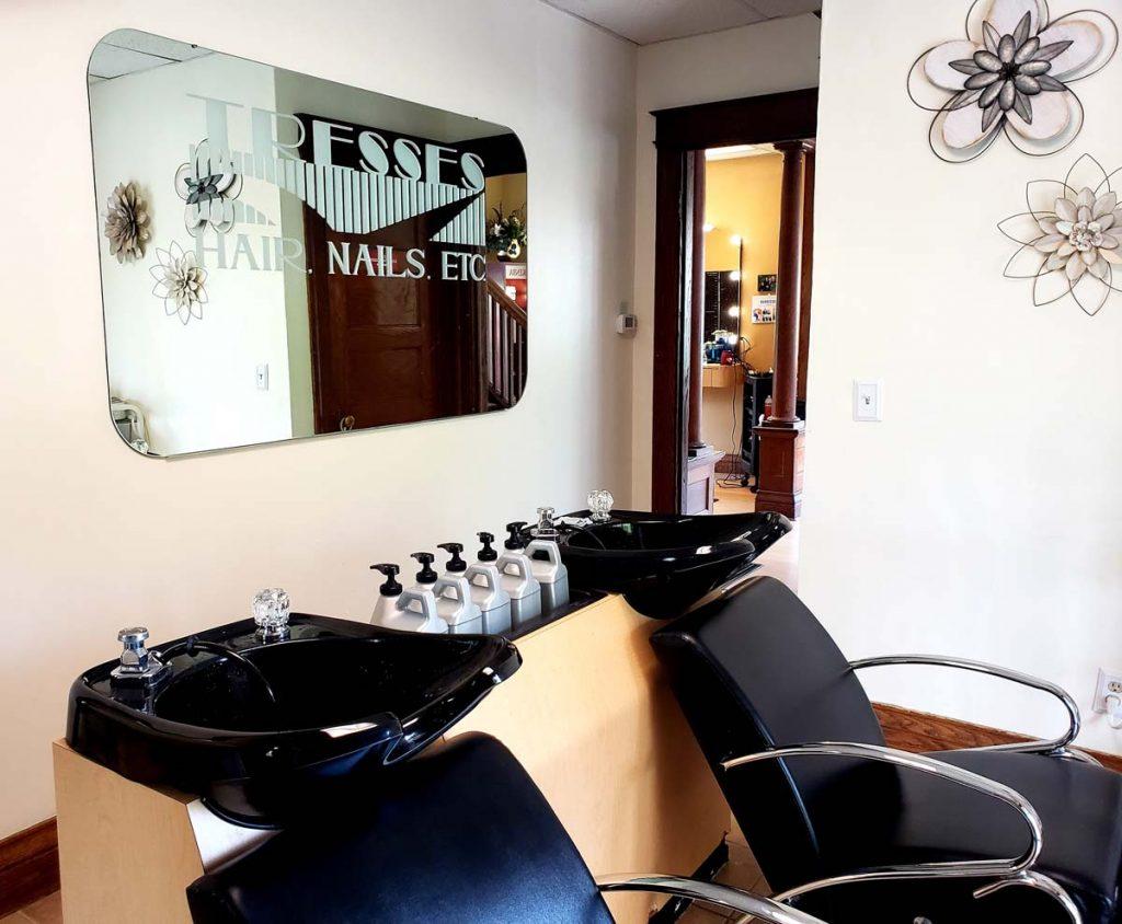 hair salon washing station