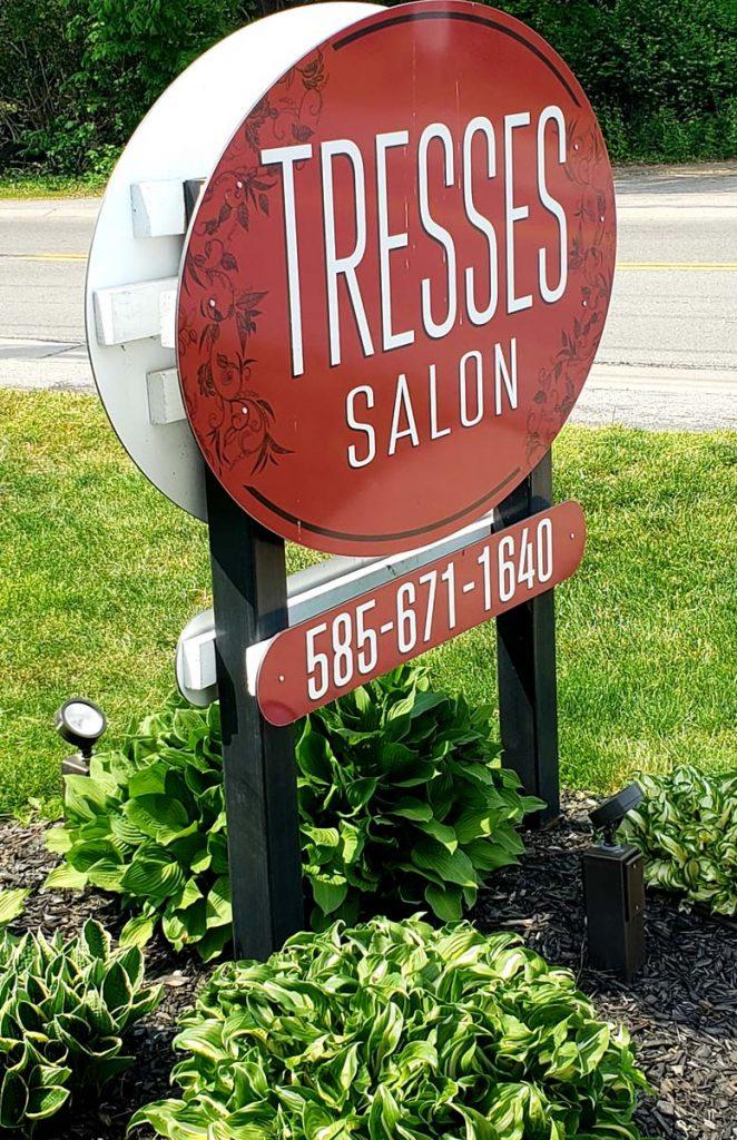 Tresses Salon Front Sign